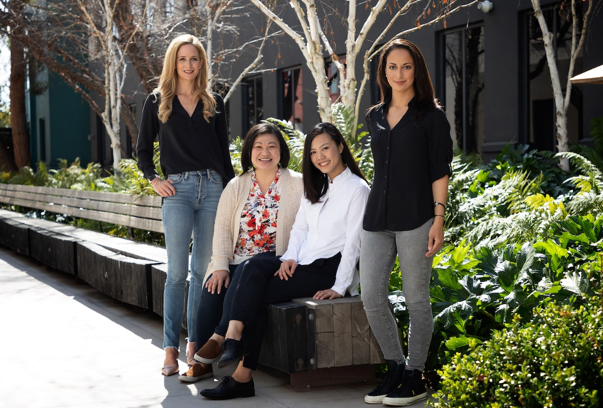 From L to R: Elisabeth Michaels, Sun Yen Cumby, Jocelyn Chen, and Ruth Bram