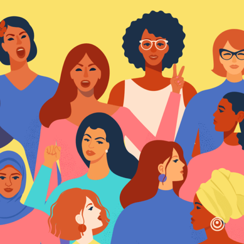 faces of diverse women - vector illustration